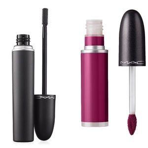 NWOB MAC cosmetics mascara and liquid lipstick duo